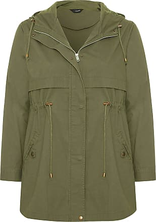 Yours Clothing Clothing Womens Plus Size Zip Through Jacket Size 26-28 Khaki