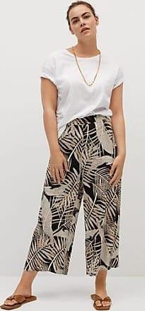 Violeta by Mango Printed crop trousers
