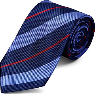 TND Basics Cravatta blu e rossa in seta da 8 cm con motivo a righe d87579ff1c62