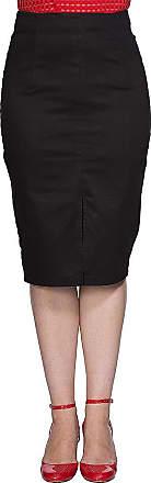 Banned Plain Pencil Skirt (Black) - Medium