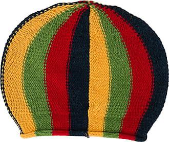 Wales Bonner Gorro de tricô com listras - Vermelho