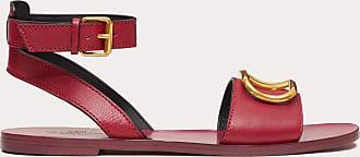 Valentino Garavani Valentino Garavani Sandalo Vlogo In Vacchetta Granata Donna Raspberry Pink 100% Pelle Bovina - Bos Taurus 37
