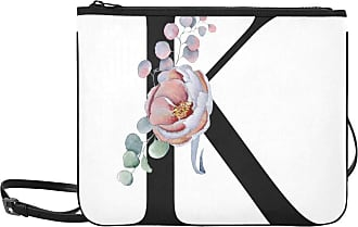 Yushg Vintage Clutch Evening Bag Floral Watercolor Alphabet Monogram Initial Letter Adjustable Shoulder Strap Girls Bag Fashion For Women Girls Ladies Shoul