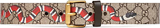 Gucci Cintura in tessuto GG Supreme con Kingsnake