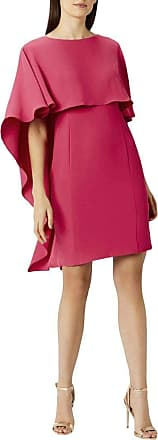 White Label Coast Pink Sofia Layered Party Shift Dress Knee Length Cape Sleeve Size 8