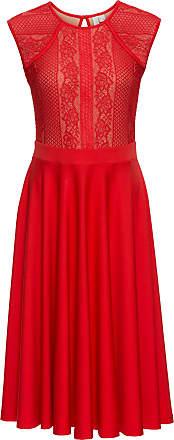 BODYFLIRT boutique Dam Klänning med spets i röd utan ärm - BODYFLIRT  boutique b5d51f11ee67d
