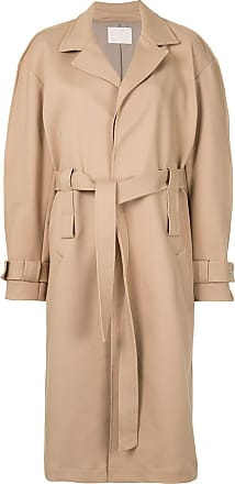 Dion Lee double belt trench coat - NEUTRALS