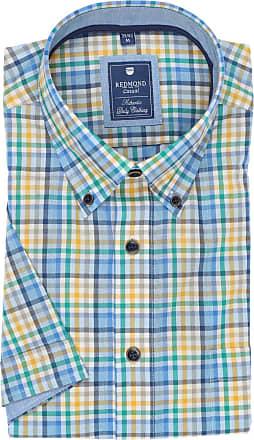 Hatico Regular Fit Hemd blaugrünweiss, Gestreift