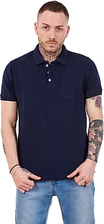 JD Williams Mens Cotton T-Shirts Regular fit Plain Polo Pocket Casual Formal Shirt Top M-XXL Navy