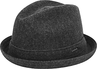 Kangol Wool Player Trilby Hat, Grey (Dark Flannel), Large