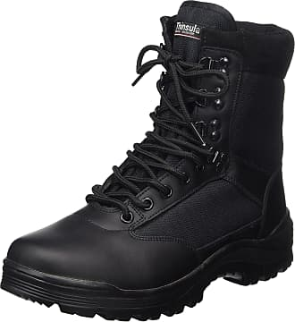 Mil-Tec SWAT Mens Black Tactical Patrol Combat Police Security Army Leather Boots