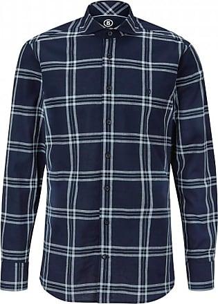 Bogner Gus Cotton-Linen Shirt for Men - Navy blue/White