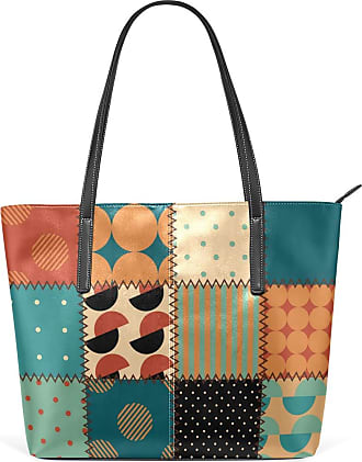 NaiiaN Shoulder Bags Light Weight Strap Tote Bag Handbags Purse Shopping Lighthouse for Women Girls Ladies Student Leather Floral Patchwork