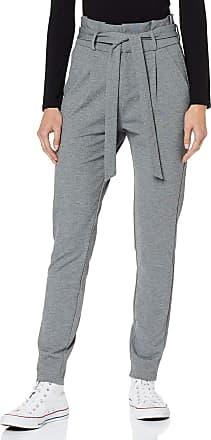 Vero Moda Womens Vmeva Hr Loose Paperbag Pant Noos Ki Trouser, Grey (Medium Grey Melange), W27/L32 (Size: Small)