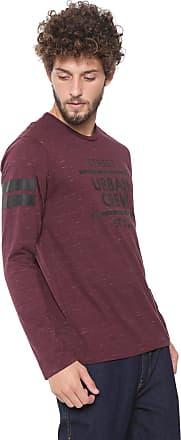 Malwee Camiseta Malwee Estampada Vinho