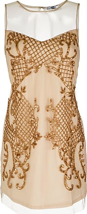 Pop Up Store Vestido curto com bordados - Neutro
