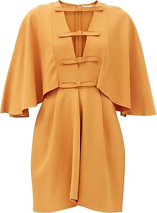 Giambattista Valli Cape-sleeved Cutout Crepe Dress - Womens - Light Brown