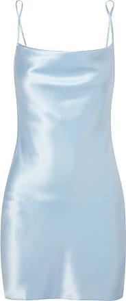 Fleur du Mal Silk-charmeuse Mini Dress - Light blue