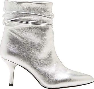 Vince Camuto Womens Abrianna Fabric Closed Toe Ankle Fashion, Silver, Size 5.5 U US