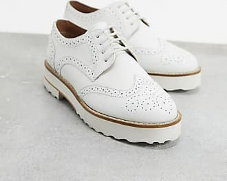 Asos Mottle leather flat brogues in white