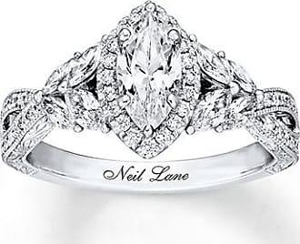 Neil Lane Engagement Ring 1-3/8 ct tw Diamonds 14K White Gold