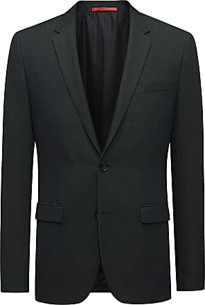 HUGO BOSS Extra-slim-fit jacket in a structured wool blend
