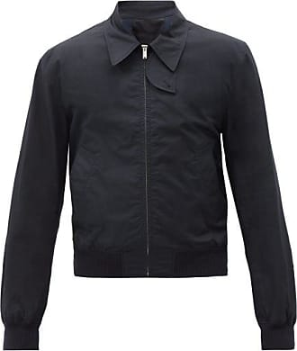 Helmut Lang Harness-strap Cotton Trench Bomber Jacket - Mens - Navy