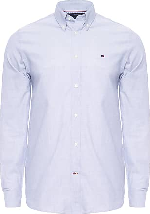 Tommy Hilfiger CAMISA MASCULINA NATURAL SOFT END ON - AZUL
