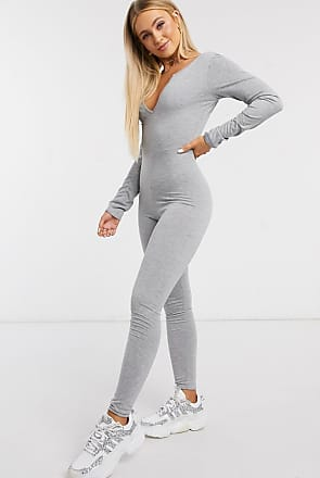 I Saw It First plunge jumpsuit in grey
