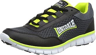 Lonsdale Mens Southwick Multisport Outdoor Shoes, Grey (Charcoal/Black/Volt), 14 UK 48 EU