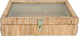 Yoshiko Home Große Cane Schmuckschatulle - beige - Beige