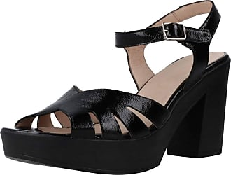 Wonders Women Sandals and Slippers Women L9163 Black 7.5 UK