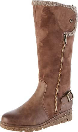 Refresh Womens 69351 Slouch Boots, Brown (Taupe Taupe), 5.5 UK