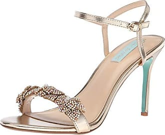 Blue by Betsey Johnson Womens SB-Harlo Heeled Sandal, Gold, 6 M US