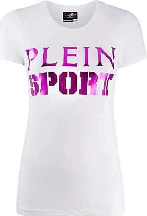 Plein Sport Camiseta com logo contrastante - Branco