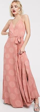 Whistles Noa jacquard maxi dress-Pink