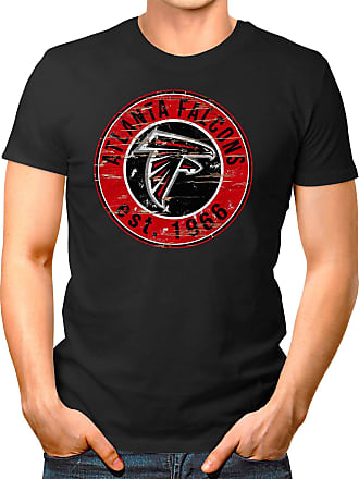 OM3 Atlanta-Badge - T-Shirt | Mens | American Football Shirt | L, Black