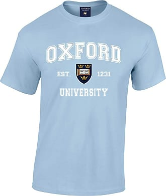 Oxford University Harvard Style T-Shirt - Light Blue - L
