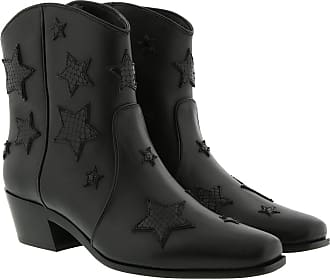 Miu Miu Boots & Booties - Star Booties Leather Black - black - Boots & Booties for ladies