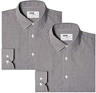 find Nero 46 Black// Black 2 Pack Slim Fit Solid Camicia Business Uomo Taglia Produttore: 14.5