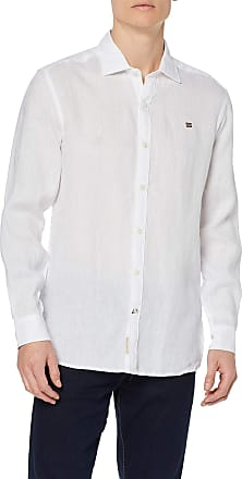 Napapijri Mens Gervas 2 Casual Shirt, White (Bright White 002), 18 (Size: X-Large)