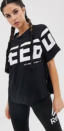 Reebok Training - T-shirt lunga nera-Nero