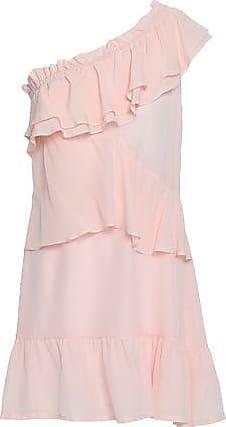 Iro Iro Woman Brooka One-shoulder Ruffled Washed-silk Mini Dress Pastel Pink Size 34