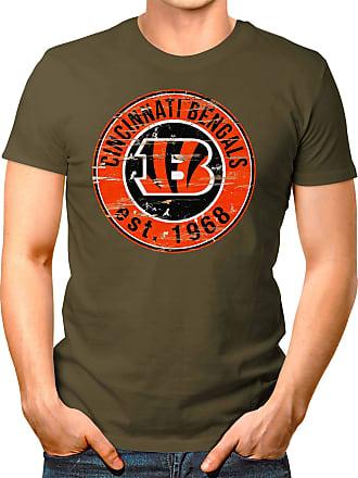 OM3 Cincinnati-Badge - T-Shirt | Mens | American Football Shirt | M, Olive