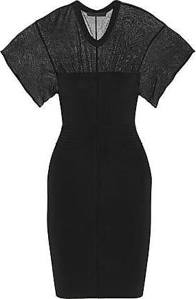 8edb22f8e3f Alexander Wang Alexander Wang Woman Mesh-paneled Ponte Mini Dress Black  Size XS