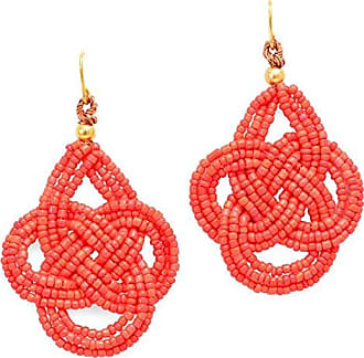 Tinna Jewelry Brinco Dourado Nó Infinito (Vermelho)