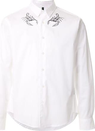 Blackbarrett Camisa com estampa de escorpião - Branco