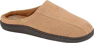 Zedzzz Jarrow Mens Faux Suede Mule Slippers Brown UK 10
