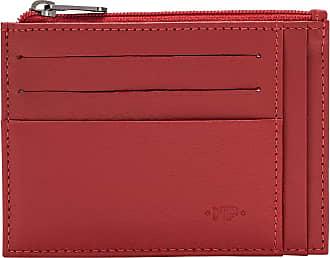 Nuvola Pelle Bustina Portafoglio Porta Carte di Credito Tascabile in Pelle Portamonete Uomo a Cerniera Zip Rosso