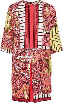 Etro Etro Woman Pleated Printed Silk-faille Mini Dress Multicolor Size 40
